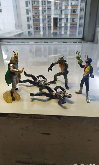 1套4款 幪面超人 假面騎士