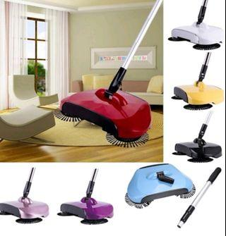 360 Rotary Manual Floor Sweeper With adjustable handle
