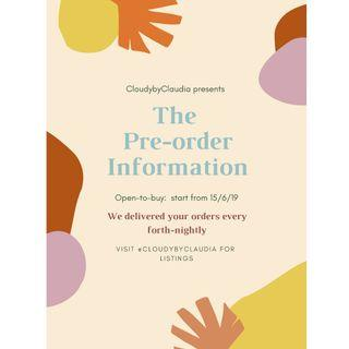 !!! Pre-order information by CloudybyClaudia !!!
