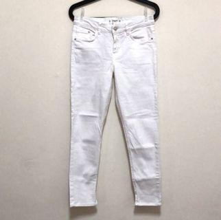 🚚 MANGO中腰白色牛仔褲