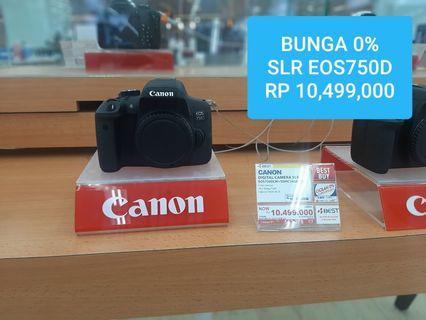 Canon Eos750D Bisa Cicil Pake KTP Gratis 2 angsuran jakarta
