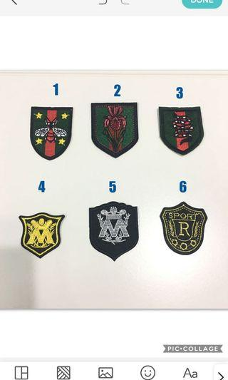 Iron on patch emblem embroidery crest logo