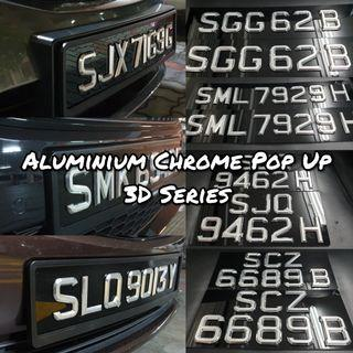 3D Number Plate *LTA APPROVED*