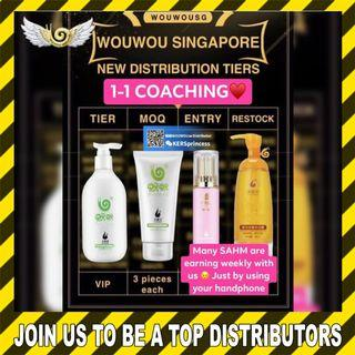 🚚 Stay Home Income! Part Time Income! Addition Bonus! Join us as a WOUWOU Distributors NOW! Secret Formula to Success!