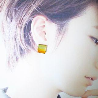 🚚 繡羨/貼耳耳環(耳針 耳夾 簡約 無印風 文青 幾何 漸層 上班族 新鮮人 學生 精選)
