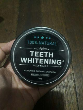 100% natural teeth whitening activated charcoal