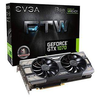 EVGA GTX 1070 FTW RGB 8GB GRAPHICS CARD