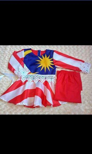 Baju bendera girl