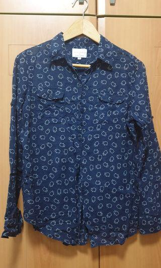 🚚 Navy blue sheep blouse