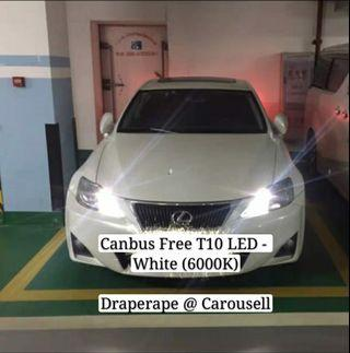 🚚 Canbus Error Free T10 LED (White 6000K) - Compatible for Pole lights / License Plate / Map Lights / Interior Cabin Lights