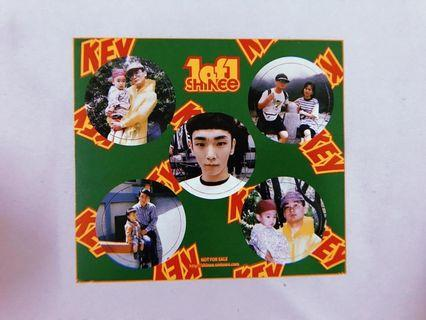 SHINee Official Sticker Photocard - Key