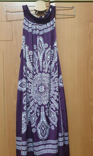 🚚 Purple polyester dress