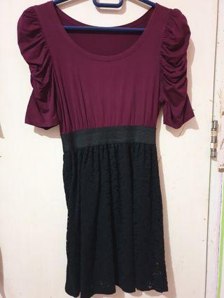 Maroon Dress (mini dress)