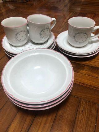 日本花茶杯碟