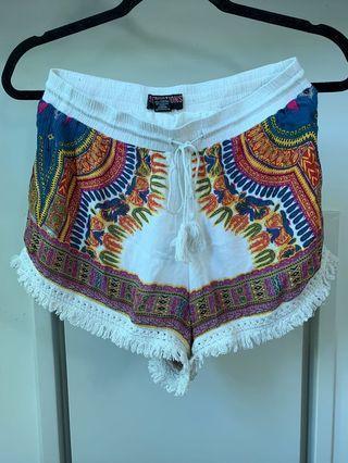 Boho cotton festival shorts