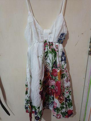 Flower (bunga - bunga) mini dress (sleeveless / tank)