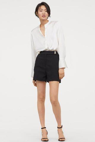 H&M Tailored Shorts with Gold Button