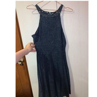 🚚 Denim halter neck dress