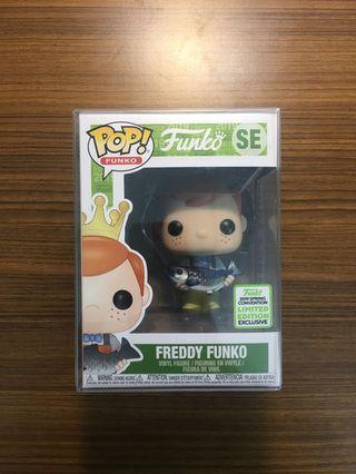 Funko Pop! Freddy Funko holding Fish ECCC