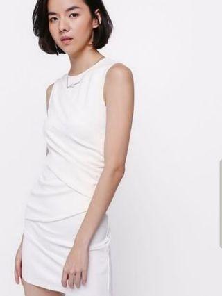 Love Bonito Ricatia Ruched Bodycon Dress White #MRTCCK