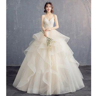 2019 new arrival simple and elegant design Wedding Dress