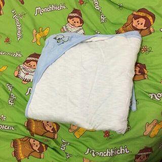 全新 藍白色 純綿包被 嬰兒BB兒童 小童 童裝合用sw
