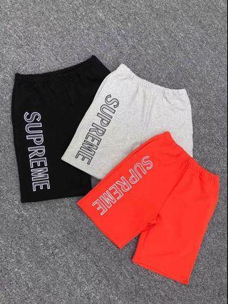 🚚 Supreme Leg Embroidery Sweatshort刺繡 Logo 短褲