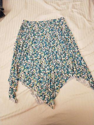 🚚 Blue Floral Skirt