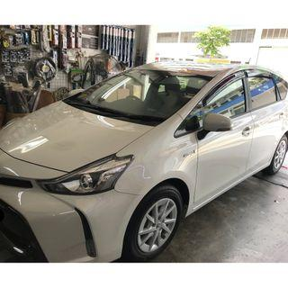 Toyota Prius + Plus Hybrid 2018-2019 / Alpha Hybrid 2016-2019 Door Visor