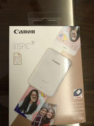 Canon inspics mini photo printer PV-123A (BNIB)
