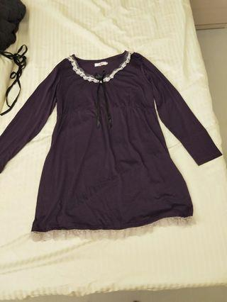 🚚 Smart looking dark purple dress with beautiful lace
