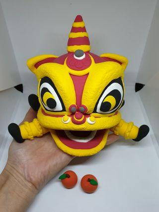 Customised lion dance cake topper - air dry clay