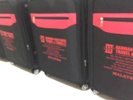 2 huge black fabric Luggages #RayaHome