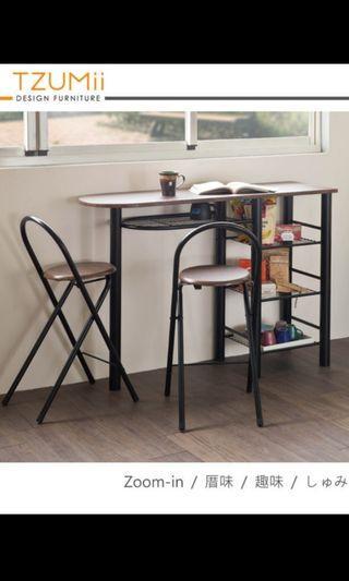 吧台桌椅組(一桌二椅)