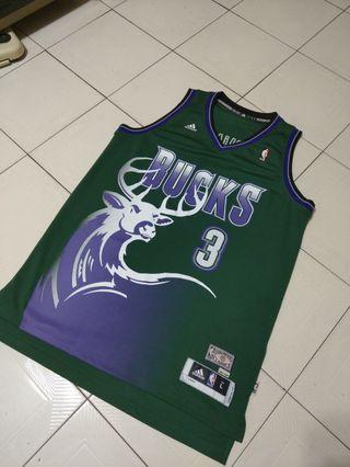 Adidas NBA 密爾瓦基公鹿 Brandon Jennings 復古大公鹿