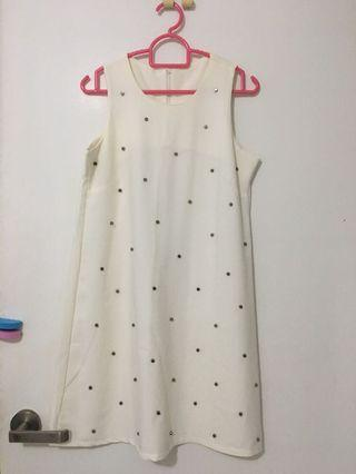 🚚 White dress size M