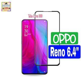 Tempered Glass Oppo Reno 6.4 inch Warna Hitam 9D - Pelindung
