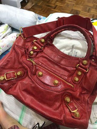 🚚 Balenciaga City bag red authentic