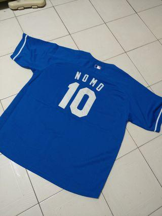 MLB  LA 洛杉磯道奇 NOMO 野茂英雄 球衣 majestic