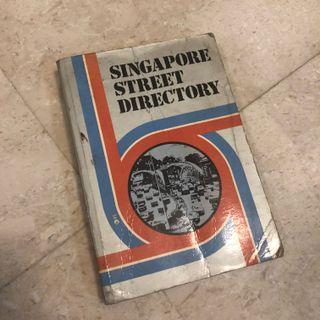 Vintage Singapore street directory 1974