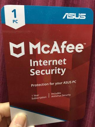 McAfee Internet Security 1 Year Subscription