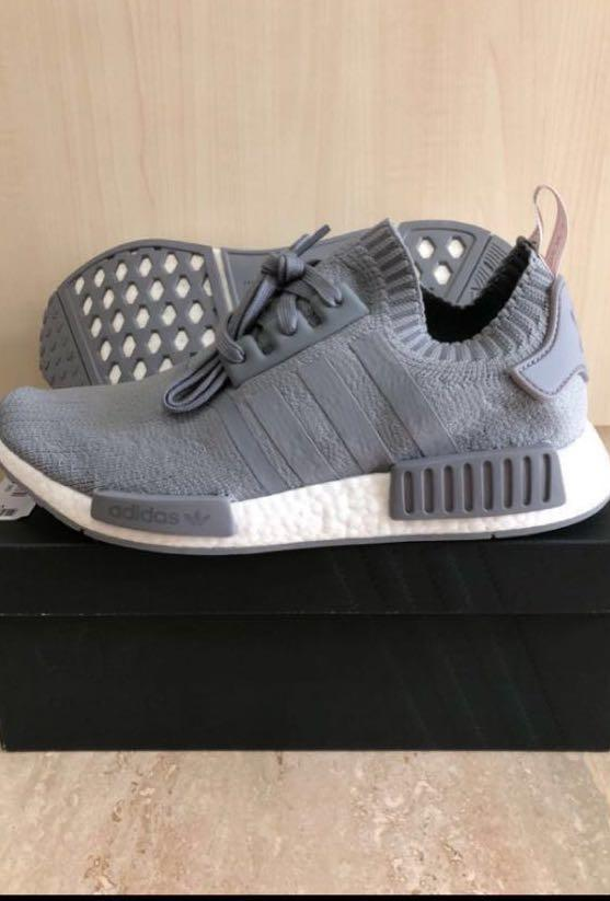 Adidas NMD PK R1 Grey Pink Tab UK8.5