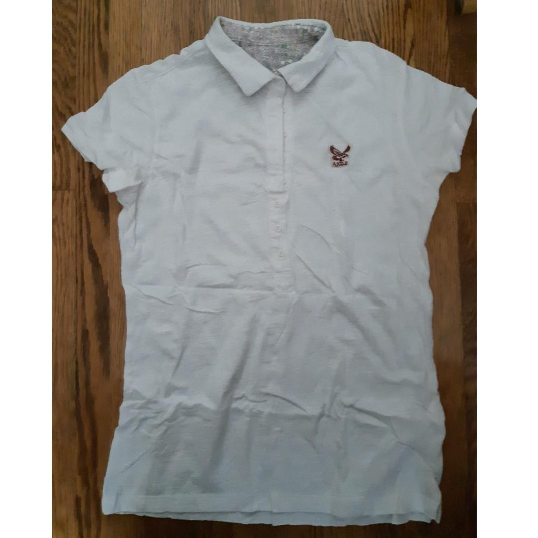 Aigle white short sleeve shirt