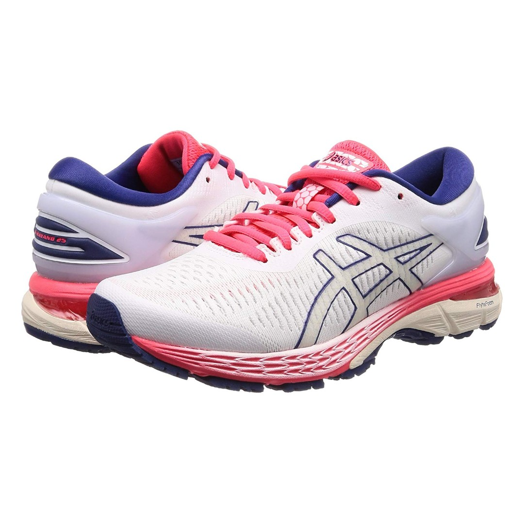 online store d7a94 439f5 [Asics] GEL-Kayano 25 Women's Running Shoes White/Pink