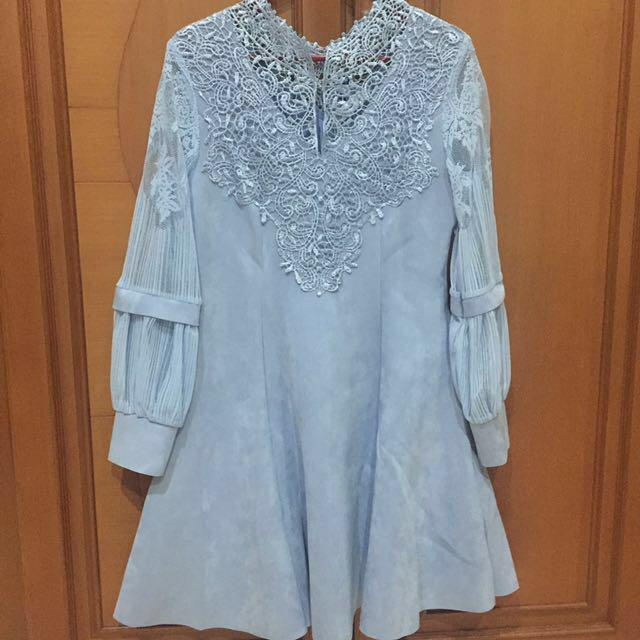 Blue Lace Dress / Dress Biru Muda