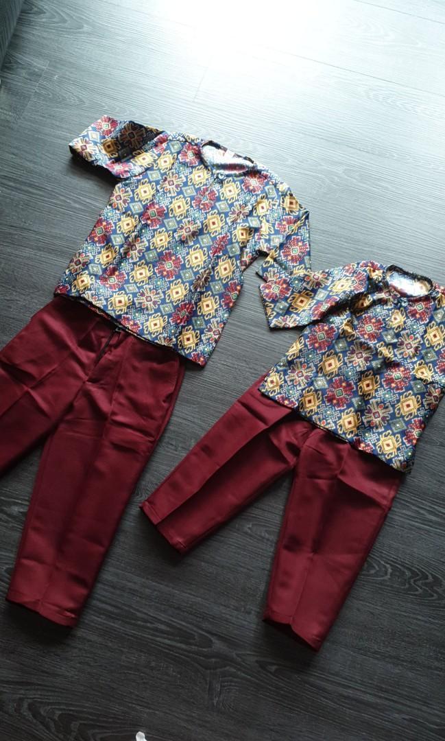 Boys batik kurta set
