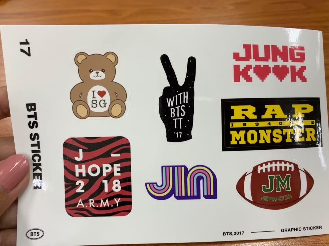 BTS Season Greetings 2017 Greeting card (OT7), Photocard (Kim Taehyung - V), Stickers (ORIGINAL)
