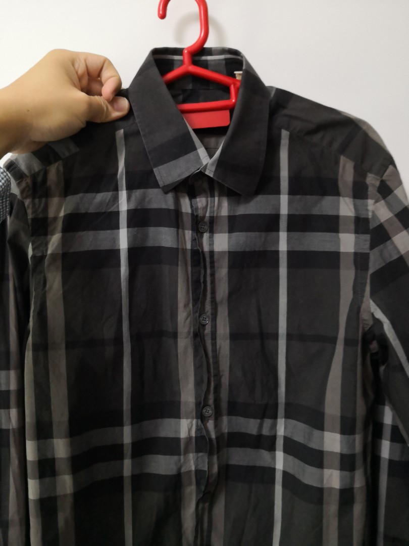 aff6886d32 Burberry Long Sleeve Checkered Shirt, Men's Fashion, Clothes, Tops on  Carousell