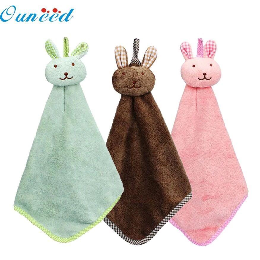 Business kitchen cartoon animal hanging cloth soft plush towel