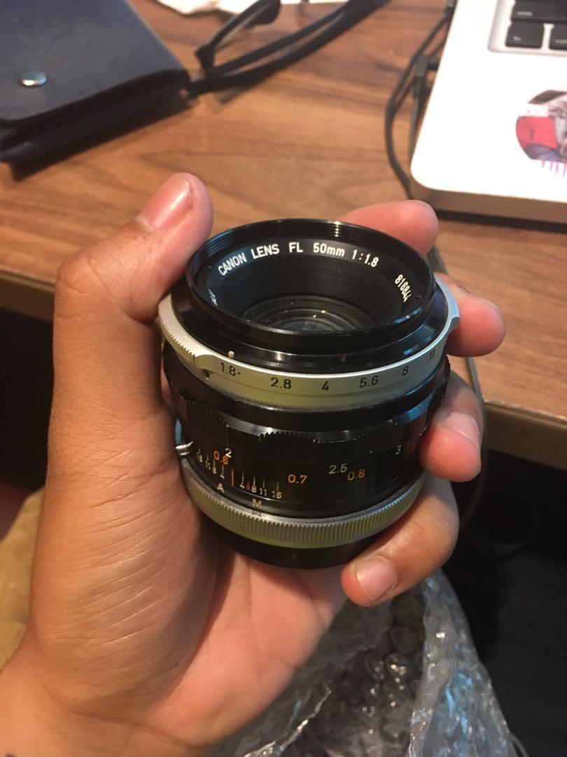 CANON 50mm f/1.8 FL